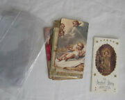 14 Christmas Themed Vintage Holy Cards Fold Out Booklet Sweetest Story Envelopes