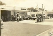 3 Vintage Shell Tcp Shellube Service Station Pumps Island 1950and039s 5x7 Photo