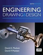 Engineering Drawing And Design By Madsen New 9781305659728 Fast Free Shipping,.