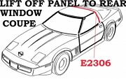 1984-1996 Corvette Coupe Lift Off Panel To Rear Window Ws. Gm10286997.