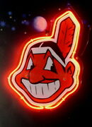 Cleveland Indians 3d Acrylic Neon Sign Beer Gift 14x10 Light Lamp Artwork