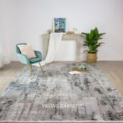 Yilong 7.9and039x11.2and039 Handwoven Turkish Bamboo Silk Carpet Modern Area Rug T005