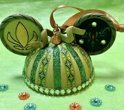 Disney Parks Frozen Anna Mickey Mouse Ears Hat Ornament Green Good Condition