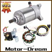 Starter And Magneto Stator Coil And Relay Solenoid For Polaris Sportsman 500 1998-00