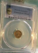 1853 1 Liberty Head Gold Dollar Pcgs Au Detail Cleaned W/ Gold Shield And Tv
