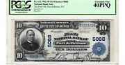 10 1902 The First National Bank Of Port Jefferson Ny Ch 5068 Pcgs Ef 40 Ppq