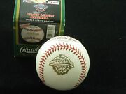 2001 Official World Series Baseball Post-9/11 Re-design Sealed New In Box