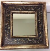 Vintage Italian Frame With Mirror And Hand Painted Details From Roma Collection