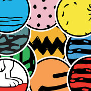 Peanuts Gang Charlie Brown Abstract Stickers/decals 5 Circles