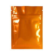 Orange Uv Blocking Flat Mylar Quickqlickandtrade Pouch For Loose Tea Leaves 3.3x5.1