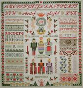 Fabulous Dutch Completed Cross Stitch Sampler Jan Houtman Christmas New Year