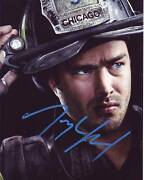 Taylor Kinney Signed Autographed 8x10 Chicago Fire Kelly Severide Photograph