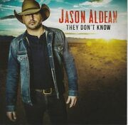 Jason Aldean Signed Autographed They Don't Know Cd