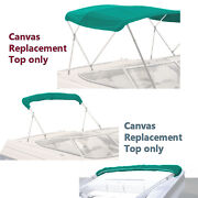 Bimini Top Boat Cover Canvas Fabric Teal W/boot Fits 4 Bow 96l 54h 73-78w