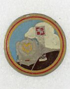 French Army Badge Chemins De Fer Vietnamiens - Local Made Beer Can