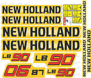 New Holland Lb90 Backhoe Decals / Stickers Compatible Complete Set / Kit