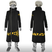 Gorgeous One Piece Cosplay Trafalgar Law New World Coat And Cap From Japan