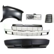Bumper Cover Kit For 1995-2005 Chevrolet Astro Front Fits Composite Headlights