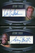 Star Trek Inflexions Autograph Booklet Card William Shatner And Avery Brooks