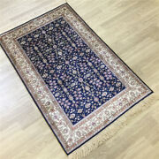 Yilong 2.5and039x4and039 All Over Handmade Rug Blue Bedroom Hand Knotted Silk Carpet 184a