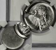 1995 Ngc Ms66 Two Coin Set Mated Pair Nickel Mint Errors With Mushroom Strike