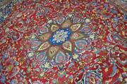 9'7 X 13'6 Marvelous Colors Plush Semi Antique Hand Knotted Wool Area Rug 10x14