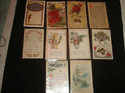 10 Vintage Antique Early 1900s New Years Postcards
