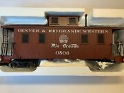 Bachmann 93803 Dandrgw 0506 Caboose W/metal Wheels And Interior Free Shipping New