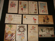 11 Vintage Antique Early 1900s New Years Children Kids Boys Girls Postcards Rare