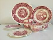 8 Pieces Homer Laughlin Plates And Johnson Borthers Pinshurt Kentin On Avon Cups