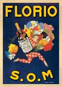 Florio, 1915 S.o.m By Marcello Dudovich Art Print Vintage Wine Bar Poster 24x32
