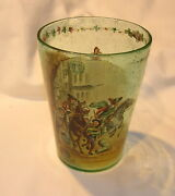 18/19th C. English Hand Painted Beer Glass - 6 Inches Tall - Very Nice- B.offer