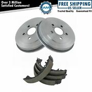 Rear Brake Drums And Shoes Left And Right Kit For 00-05 Toyota Celica 5 Lug
