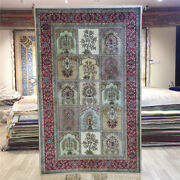Yilong 2.5and039x4and039 Four Season Handmade Rug Floral Hand Knotted Silk Carpet 165a