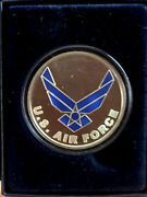 Gorgeous Painted Us Air Force One Ounce Pure .999 Fine Silver Extremely Rare