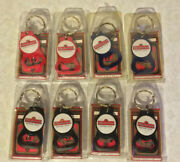 Lot Of 8 Budweiser Keychain Bottle Opener's Made In Usa