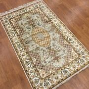 Yilong 3and039x5and039 Home Decor Hand Made Carpet Vintage Hand Knotted Silk Area Rug 388m