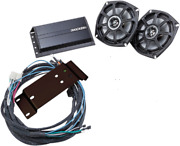 Kicker Front Speaker/amp Kit 200 Watts Harley Road Glide Fltr Fltru Ultra 98-13