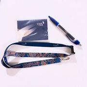 Authentic Singapore Airlines Sq Soar As One Batik Lanyard, Pen And Note Pad