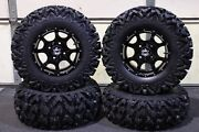 Yamaha Grizzly 660 25 Rip Saw R/t Atv Tire And Cobra Blk Wheel Kit Irs1ca