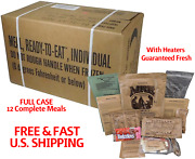 Case Mres Sterile Military Surplus Meal Ready Eat 12 Complete Meals With Heat