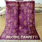 Yilong 4.3and039x6.6and039 Handmade Silk Rugs Classic Pattern Hand Knotted Top Carpet 1719