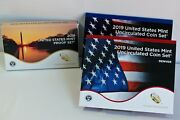 2019 Proof And Uncirculated Two Annual Us Mint Coin Sets Pds 30 Coins Complete