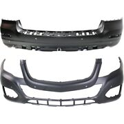 Set Of 2 Bumper Covers Front And Rear For Mercedes Mb1000402 2048802049 Pair