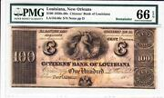New Orleans La- Citizensand039 Bank Of Louisiana 100 Pmg 66 Gem Uncirculated