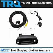 Trq Rear View Backup Camera Add On Kit W/ Wiring And Tailgate Handle For F150 F250