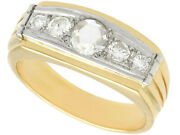 Vintage 0.68ct Diamond And 18k Yellow Gold 18k White Gold Dress Ring 1950s