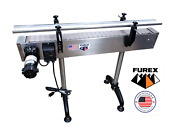Furex Stainless Steel 4and039 X 4 Inline Conveyor With Plastic Table Top Belt
