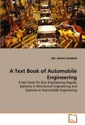 A Text Book Of Automobile Engineering, Rahman, Arafat 9783639335620 New,,
