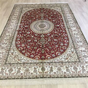 Yilong 6and039x9and039 Oriental Hand Knotted Carpets Red Red Nice Silk Medallion Rugs 083c